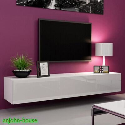 White Gloss Wall Mounted Tv Unit