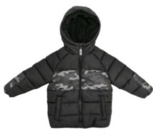 MEMBERS MARK Toddler Boys Black /& Camo Puffer Hooded Winter Jacket Coat Size 2T