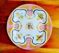 Faux China Tin Dinner Plate Pink Ground Victoria & Albert Museum Reproduction