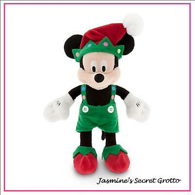 "AUTHENTIC DISNEY ELF MICKEY MOUSE CHRISTMAS HOLIDAY PLUSH 9"" MINI PLUSH TOY NWT"