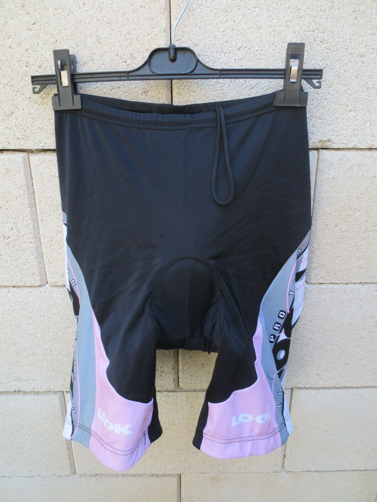 Cuissard cycliste LOOK Pro Team pink black cycling short XL