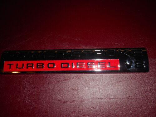2009 2010 FORD F250 F350 F450 F550 7.3 6.0 6.7 POWERSTROKE TURBO DIESEL EMBLEM
