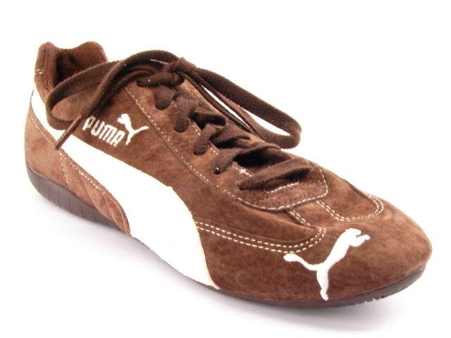 New PUMA Femme Brn Suede Comfort fonctionnement Lace Up Fashion Sneaker chaussures Sz 7.5 M
