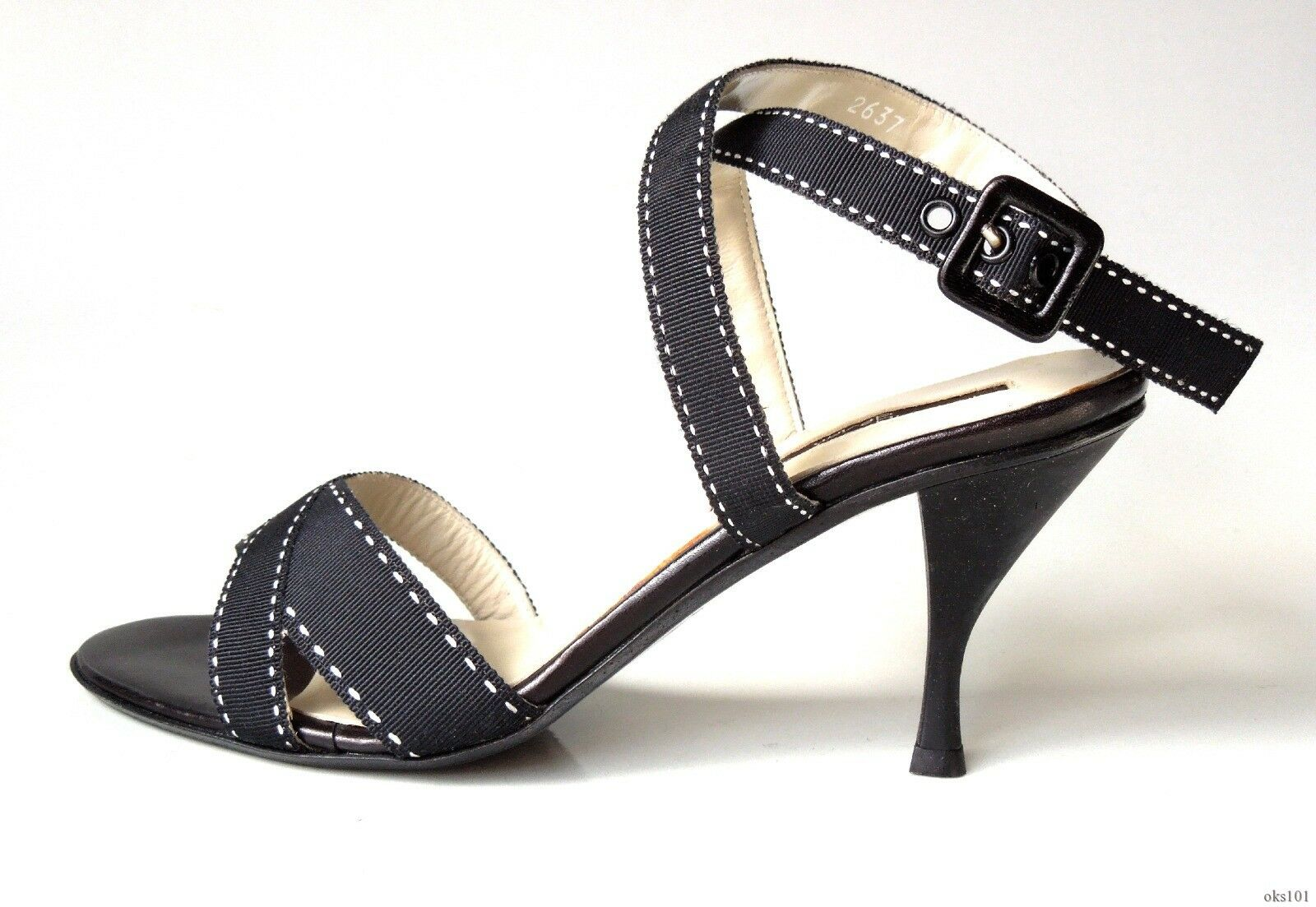 New heels Armando POLLINI schwarz ankle X-strap Sandales heels New schuhe  35 US 5 - HOT 535a4a
