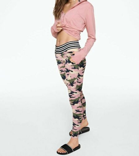 Victoria/'s Secret PINK ULTIMATE HIGH WAIST PRINT LEGGING Camo S-L