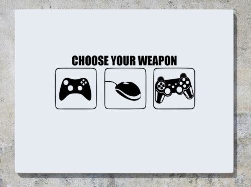 Choose Your Weapon Xbox Ps Playstation Computer Gaming Decal Wall Sticker Pictur