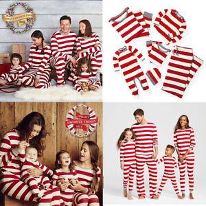 af6621c679 Family Match Kid Mom Dad Christmas Pajamas PJs Set Xmas Sleepwear ...