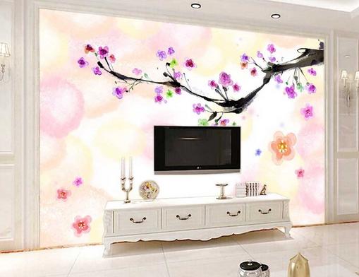 3D Flower Tree Farbe 7 Wall Paper Murals Wall Print Wall Wallpaper Mural AU Kyra