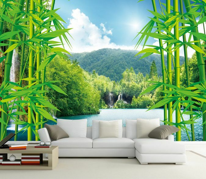 3D Bamboo Forest Mountain 132 Wall Paper Wall Print Decal Wall Deco AJ WALLPAPER