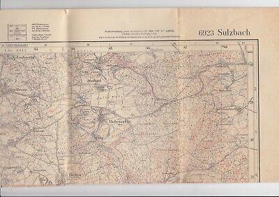 6923 Sulzbach - Topographische Karte 1:25.000, Stat. Ld.amt 1930, Bericht. 1937 Rohstoffe Sind Ohne EinschräNkung VerfüGbar