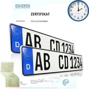 2-Stueck-EU-Kfz-Kennzeichen-Nummernschilder-Autoschilder-mit-Wunschtext-DHL