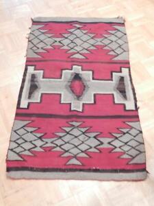 Antique Vintage Navajo Indian Rug
