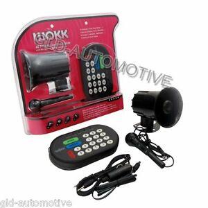 Sirena WOKK 46 suoni elettronici + MP3 Microfono Tromba musicale animali canzoni