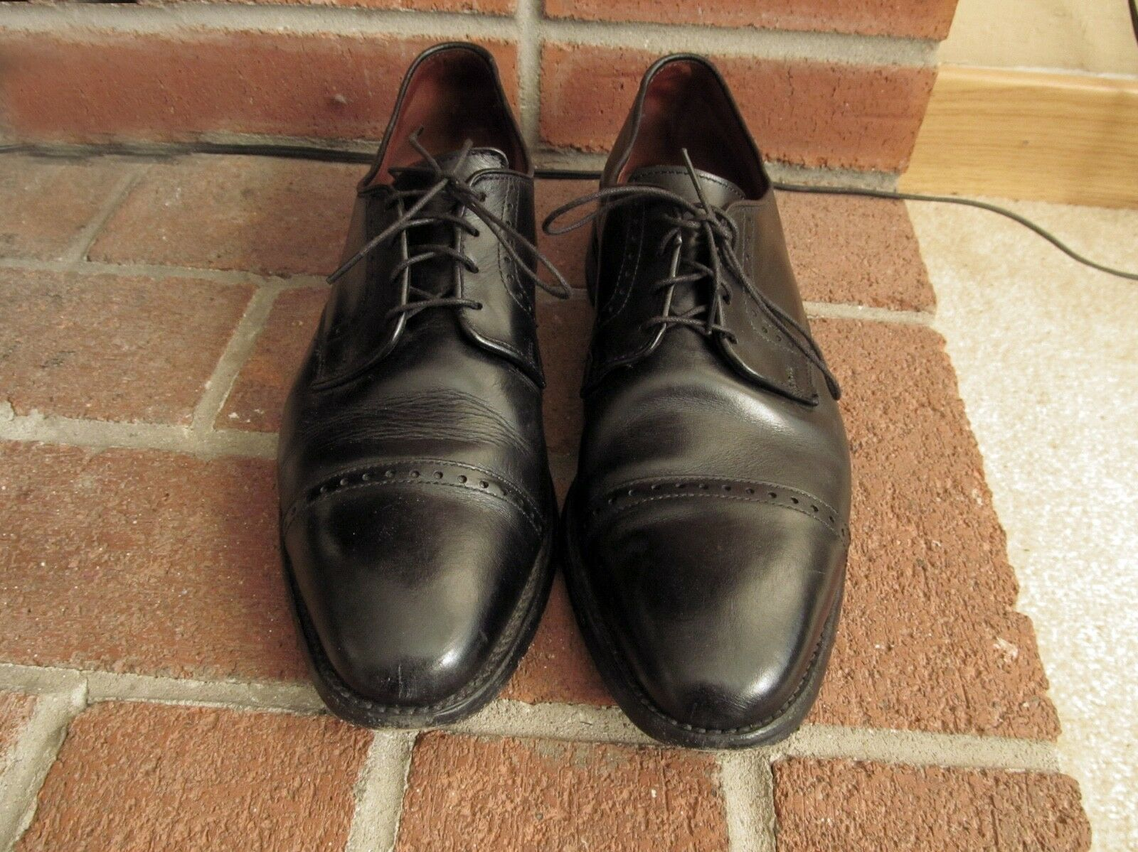 ALLEN EDMONDS CLIFTON Oxford Cuero Zapatos Vintage Tamaño 10.5-D Seminuevo