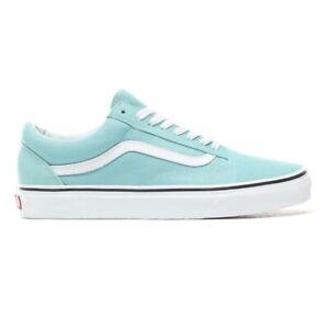 Vans-UA-Old-Skool-Aqua-Haze-White-Skateboarding-New-Shoes-Men-gum-VN0A38G1VKQ