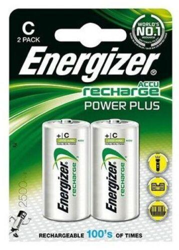 2 x Energizer Baby C Power Akku 2500 mAh NiMH HR14 Accu Radio Spielzeug