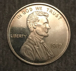 1987 Abraham Lincoln Wheat Penny 1 Troy OZ .999 Silver