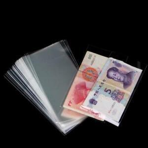 100PCS-fessional-Banknote-Sleeves-Paper-Money-Holder-6c-SH-Collection-Bag-D3U5