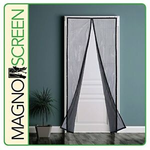 "New Park Ridge Msd3280 Magnetic Screen Door, 32x80"", Black Free2dayship Taxfree Larges VariéTéS"