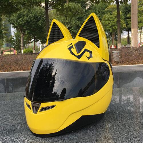 Comfort Soft Helmet Motocycle Ear Cat Helmet Personality Full Face Helmets New
