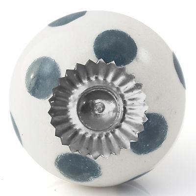 Black white grey ceramic knobs drawer pull cupboard door knobs porcelain china