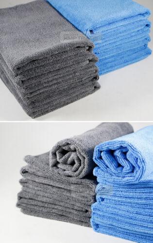Blue x10 Car Soft Microfiber Absorbent Wash Cleaning Towel Cloth 40x40cm Gray