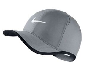 NWT NIKE Men s Dri-Fit Feather Light Running Tennis Hat Cap GRAY w ... c8d0c0db224
