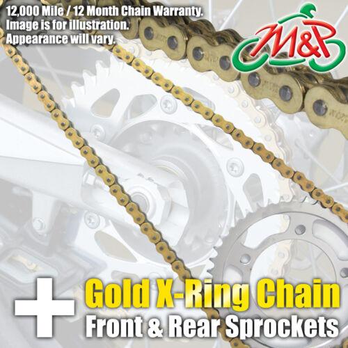 Suzuki SV 650 X 1999 Gold XRing Chain and Sprocket Kit SV650