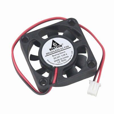 2pcs 24V  40mm 40x40x10mm Brushless PC CPU Case Cooling Cooler Fan 2pin
