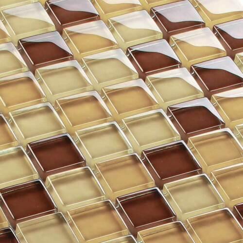 Glasmosaik Fliesen Mosaik Crystal Braun Mix 8 mm
