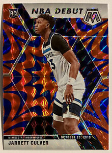 2019-20 Mosaic Jarrett Culver Blue Reactive NBA Debut Rookie SP RC Wolves #263