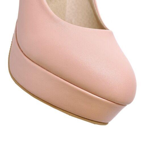 White Flower High Heels Cute Girls Pumps Clubwear Women Wedding Round PU-Leather