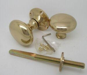 Solid Brass Victorian Mortice Rim Lock Door Pull Handles