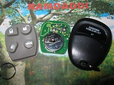 2 New Replacement Keyless Entry Remote Key Fob DeVille Eldorado 25695966