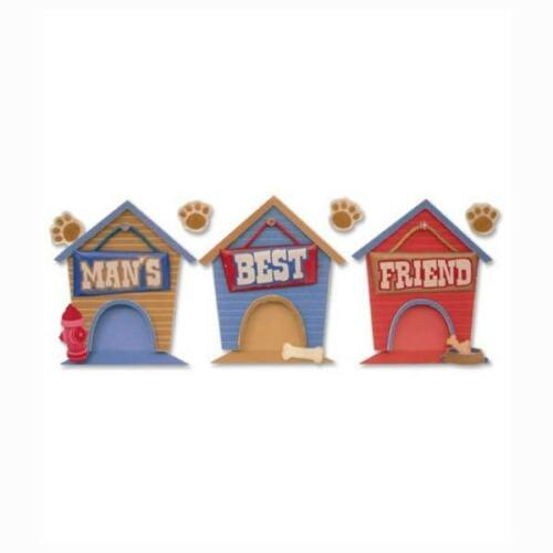 Man/'s Best Friend Title Dog Houses SO CUTE ~ RARE Jolee/'s 3D Sticker