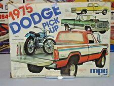 MPC 1975 DODGE PICKUP VINTAGE KIT #1-7509 1/25 AMT CHROME REAR BUMPER #102 ONLY