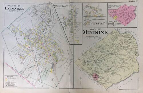 1903 UNIONVILLE MINISINK WEST TOWN ORANGE COUNTY NY MUELLER COPY PLAT ATLAS MAP