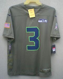 12 Fan Seattle Seahawks Salute To Service Limited Jersey - Olive