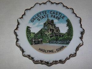 VINTAGE 1960-70S GILLETTE CASTLE STATE PARK HADLYME CONN  MINI  SOUVENIR PLATE