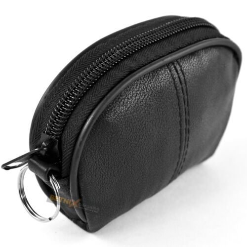 REAL LEATHER KEY COIN HOLDER bag money change pouch purse wallet Gents Womens