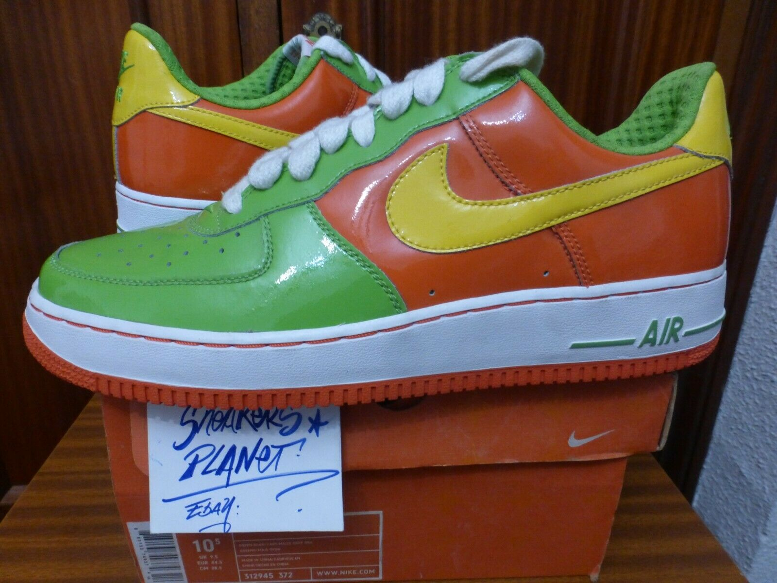 2006 DS NIKE AIR FORCE 1 CITRUS PREMIUM US 10.5,