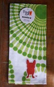 Details About French Bull For Kohls French Bulldog Kitchen Flour Sack Tea  Towel 100% Cotton