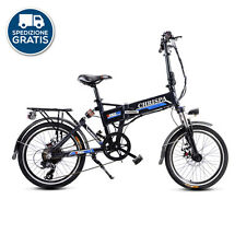 "City-bike elettrica 20"" Bicicletta bici pieghevole pedalata assistita litio DME"