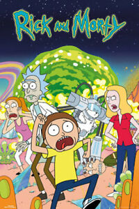 RICK-AND-MORTY-GROUP-PORTAL-24x36-CARTOON-POSTER-NEW-ROLLED