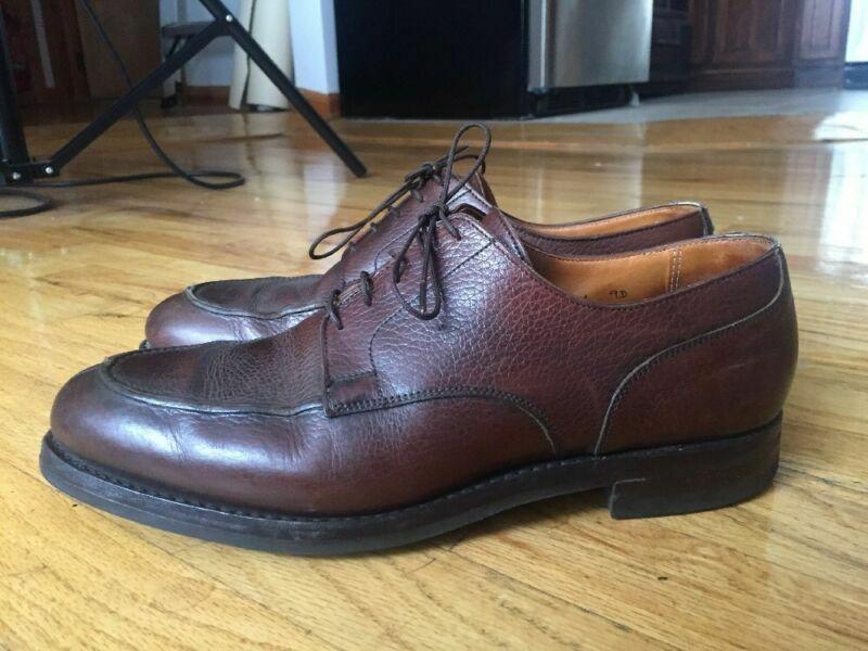 Peal & Co Brooks Brojohers Split Toe Zapatos 9D Hecho En Inglaterra