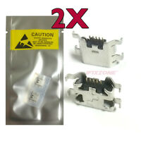 2 X Micro Usb Charging Sync Port Charger For Tracefone Zte Savvy Z750c Usa
