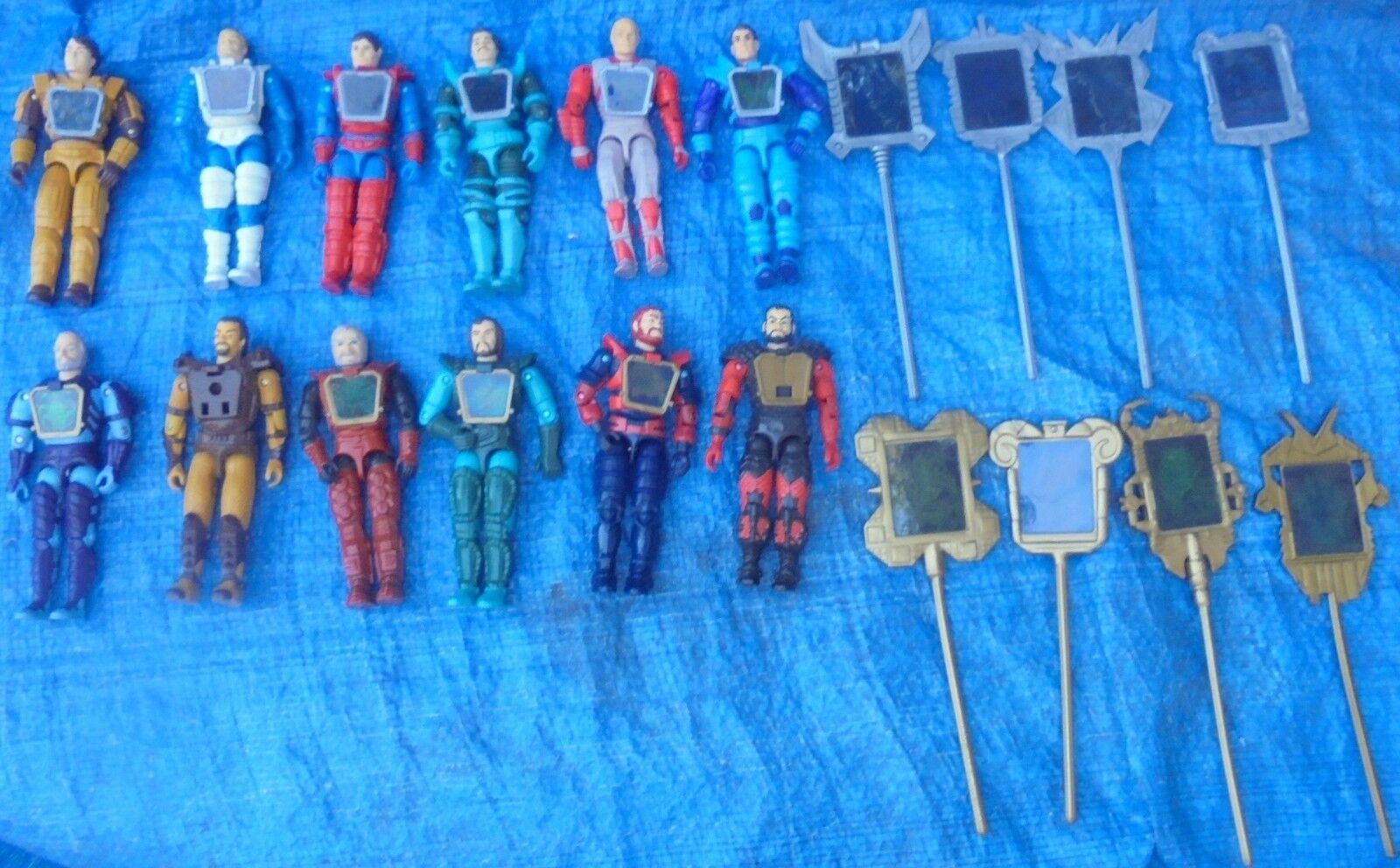 Visionaries Set Complet toutes les 8 équipes et 12 action figure lot Hasbro 1987 Reekon vintage