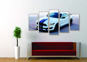 Image Is Loading GT350 Mustang Canvas Print Set Ready To Hang