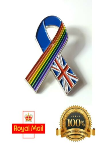 Love and Support NHS// LGBT Pride Rainbow and Union Jack Enamel Pin Badge