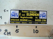 STICKER,DECAL TRAKTOR-IMPORT J VD EIJNDEN DEURNE TRACTOR
